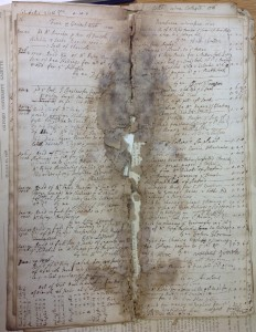 Bursar's Day Book 1725 before treatment